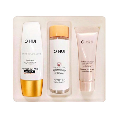 Bộ kem chống nắng Ohui Perfect Sun Pro Black SPF50+/PA+++ Special Set (3 SP)
