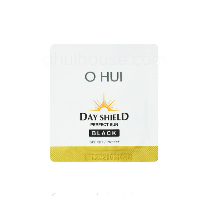 Set 10 gói Sample Kem chống nắng OHUI Day Shield Perfect Sun Pro Black
